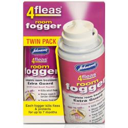 Johnson's 4Fleas Room Fogger Extra Guard With IGR (Pack Of 2)