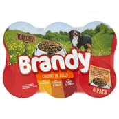 Brandy Wet Dog Food Tins - Chunks in Jelly Variety Pack (6 X 395g)