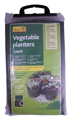 Gardman Vegetable Planters Set Of 3