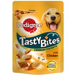 Pedigree Tasty Bites Crunchy Pockets With Chicken (95g)