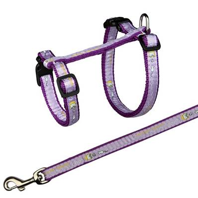 Trixie Cat Harness With Lead Nylon XL, 37-57cm/13mm, 1.20m