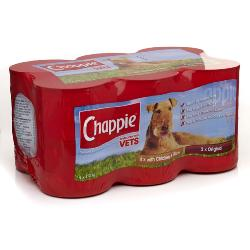 MANCHESTER & CHESHIRE DOGS HOME DONATION - Chappie Wet Dog Food Tins (12 X 412g)