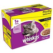Whiskas Multipack 12x100g Poultry Selection in Gravy