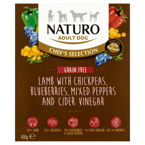 Naturo Wet Dog Food (Adult) - Chef Selection Grain Free Lamb 400g