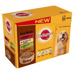 Pedigree Wet Dog Food Pouches (Adult) - Real Meal in Gravy
