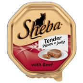 Sheba Cat Tray 85g Tender Pieces / Beef in Jelly
