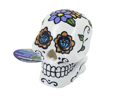 Sugar Skull White Aquatic Ornament 7cm