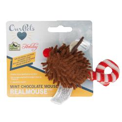 Our Pets Mint Chocolate Mouse Real Mouse Toy