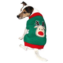 Armitage Green Reindeer Christmas Jumper for Dogs