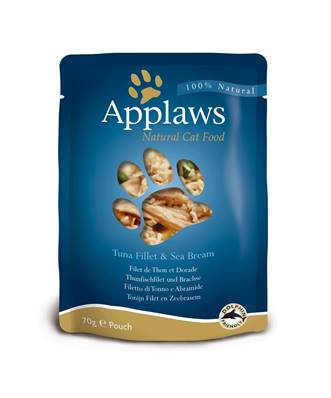 Applaws Natural Cat Food Pouch Tuna & Seabream 70g