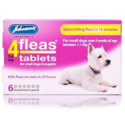 Johnsons 4Fleas Flea Removal Tablets for Small Dogs (1kg - 11kg)