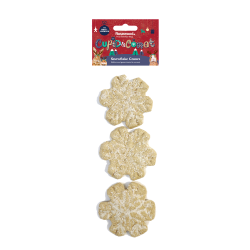 Rosewood Cupid & Comet Edible Snowflake Gnaws 3 pack