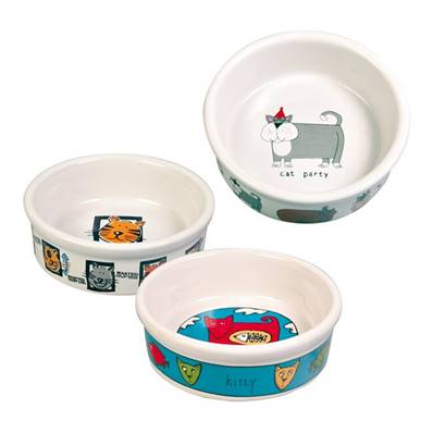 Trixie Ceramic Cat Bowls White 0.2L 11cm