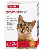 Wormclear Two in One Wormer For Cats