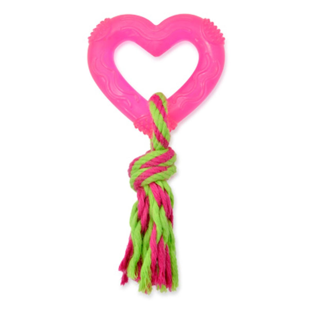 Ancol Rubber Puppy Teether Heart N Rope