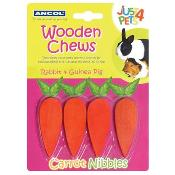 Ancol Carrot Nibbles For Small Pets 4 Pack