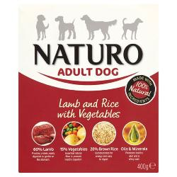 Naturo Wet Dog Food (Adult) - Lamb, Rice and Veg 400g