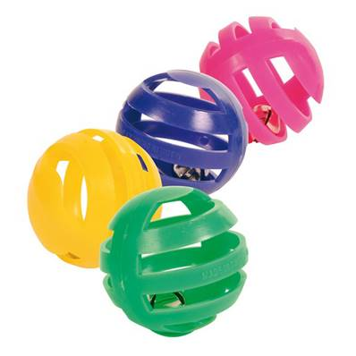 Trixie Set Of 4 Rattling Balls Plastic