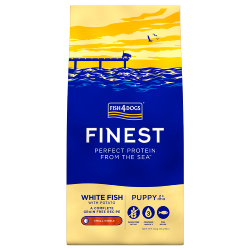Fish4Dogs Finest Grain Free Dog Food - White Fish with Potato (Puppy Small Breed)