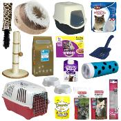 Luxury Cat Starter Pack - Contains Carrier, Food, Bed, Litter Tray, Toys & More