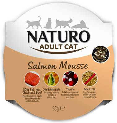Naturo Cat Salmon Mousse Foil 85g