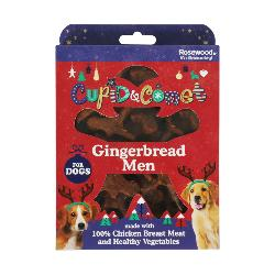 Rosewood Cupid & Comet Gingerbread Men Treat Gift Box For Dogs 160g