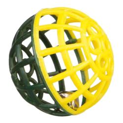 Trixie Rattling Lattice Ball & Bell Bird Toy