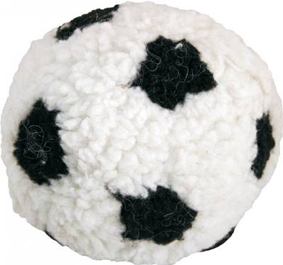 James Steel Plush Berber Football With Squeaker Dog Toy 23cm
