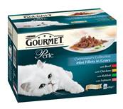 Gourmet Perle Pouch Multipack Connoisseurs Collection (Beef, Chicken, Turkey, Salmon)
