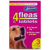 Johnsons 4Fleas Flea Removal Tablets for Large Dogs (11kg +) - 3 Treatments