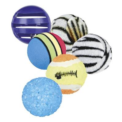 Trixie Cat Playing Balls Set Of 6