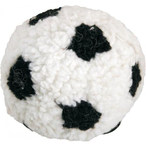 James Steel Plush Berber Football With Squeaker Large