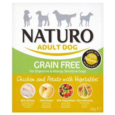 Naturo Grain Free Wet Dog Food (Adult) - Chicken and Potato 400g