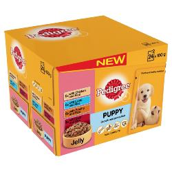 Pedigree Puppy Pouches - Meat Selection (24 X 100g)