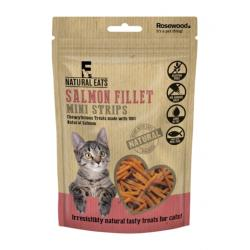 Rosewood Natural Eats Cat Treats - Salmon Fillet Mini Strips 50g