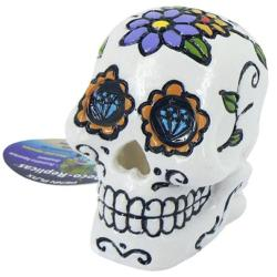Pennplax White Sugar Skull Aquatic Ornament