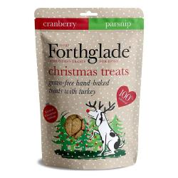 Forthglade Turkey & Cranberry Baked Grain Free Christmas Dog Treats - 150g