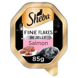 Sheba Cat Tray 85g Fine Flakes / Salmon in Jelly