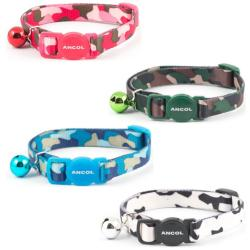 Ancol Safety Camouflage Cat Collar with Bell