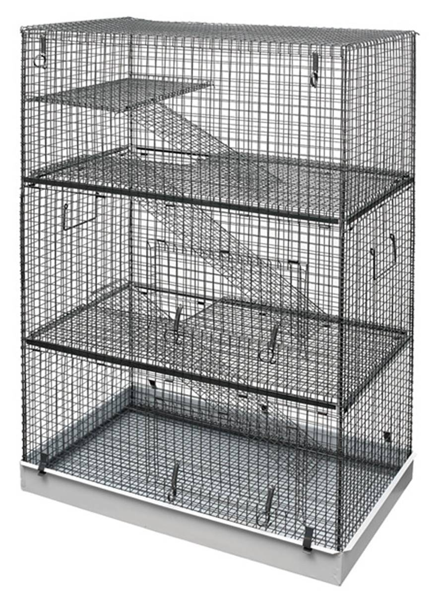 lazy bones wire chinchilla cage 3 story. Black Bedroom Furniture Sets. Home Design Ideas