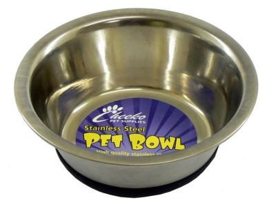 "DOTS LONDON DONATION - Cheeko Fusion Non-Slip Stainless Steel Bowl 6.5"" 750ml"