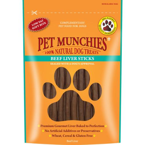 BROKEN BISCUITS DONATION - Pet Munchies Hypoallergenic Dog Treats - Beef Liver Sticks 90g