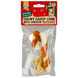 "Armitage Pawsley Chewy Candy Cane With Chicken 5"" (Small)"