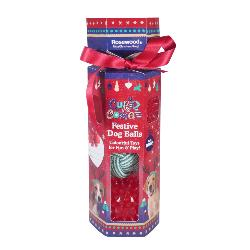Rosewood Cupid & Comet Dog Ball Cracker Gift Set - 3 Balls