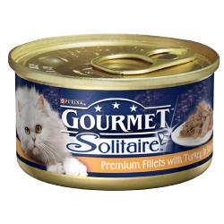 Gourmet Solitaire Cans 85g Premium Fillets With Turkey Singles