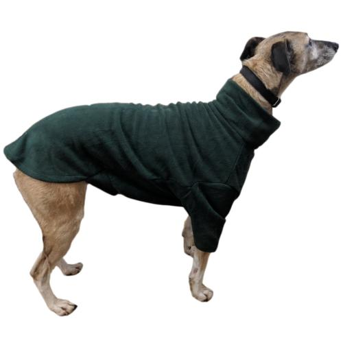 LURCHER SOS DONATION - HOTTERdog By Equafleece Dog Jumper - Forest Green - Medium