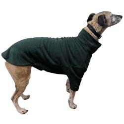 LURCHER SOS DONATION - HOTTERdog By Equafleece Dog Jumper - Forest Green - Large