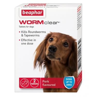 Beaphar Wormclear 2-in-1 Dog Worming Tablets