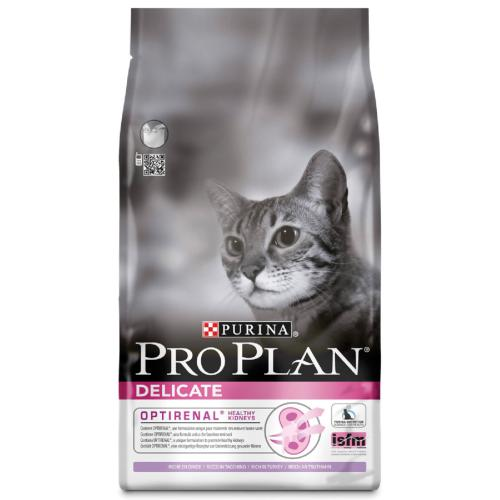 Pro Plan Premium Cat Food Delicate with Optirenal Rich in Turkey / 3kg