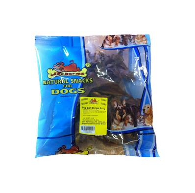 Pigs Ear Dog Treats - Strips, 500g (Pre Packed)